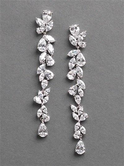 Long Dangle Rhinestone Earrings